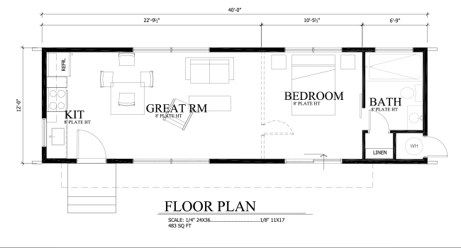Tiny Cabin Floor Plan