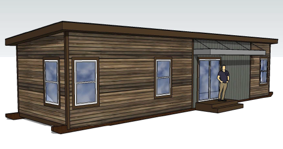 Tiny Cabin Rendering